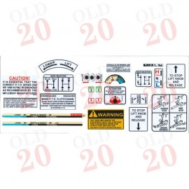 David Brown Hydraulic Decal Set