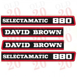 DB 880 Selectamatic Bonnet Side Decals