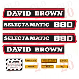 David Brown 880 Selectamatic Decal Set