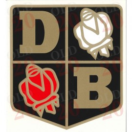 Large David Brown Rose Decal
