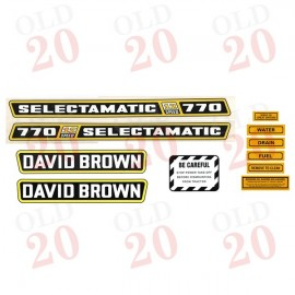 DB770 Selectamatic 12-Speed Decal Set