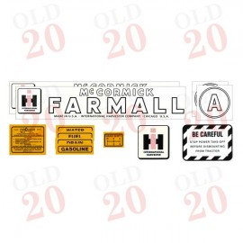 International Farmall A Decal Set