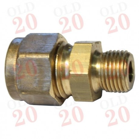 """Tap Pipe Adaptor (1/8"""" BSP to 1/4"""" UNF Compression)"""