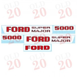 Ford 5000 'Super Major' Decal Set