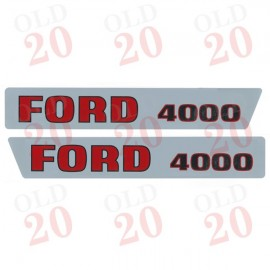 Ford 4000 'Pre-Force' Decal Set