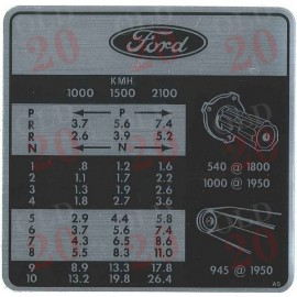 Ford 5000 Select-o-speed Gear Change Decal
