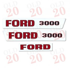 Pre-Force Ford 3000 Decal Set