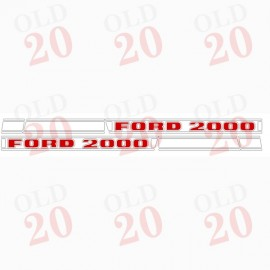 Ford Force 2000 Decal Set