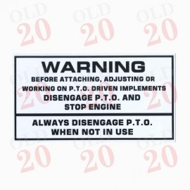Decal - PTO Warning