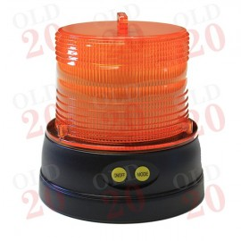 Battery Powered, Magnetic Amber Flashing Tractor Road-Run Beacon