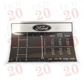 Ford Tractor 6 Speed Gear Change Decal