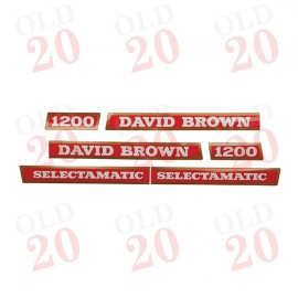 David Brown 1200 Bonnet Decal Set