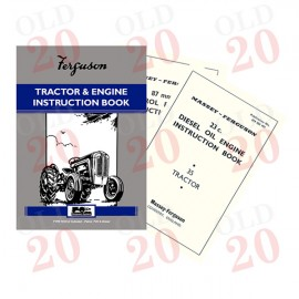 Ferguson FE35 (4 Cyl.) Drivers Instruction Book including 87mm TVO and 23c Diesel Engines!