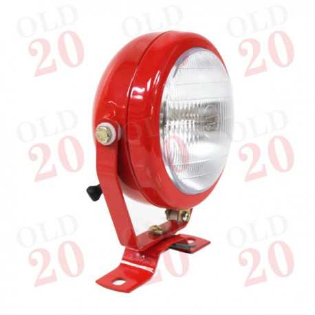 Universal Red Bodied Tractor Plough & Work Lamp