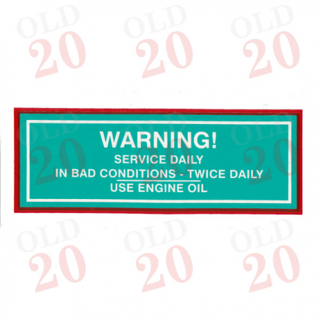 Decal - Air Cleaner Warning