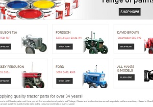 Easily select tractor makes and models