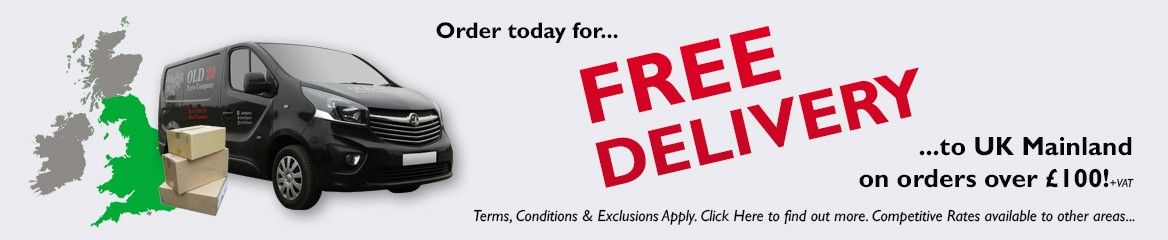Orders over £100.00 +VAT to UK Mainland receive FREE DELIVERY!